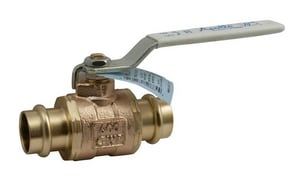 Apollo Conbraco Apollo Xpress® 200 psi Bronze Press Stainless Steel Full Port Ball Valve A77WLF1401