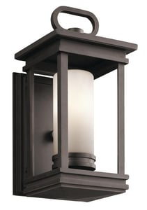 Kichler Lighting South Hope™ 60W 1-Light Candelabra Base Incandescent Wall Mount Lantern in Rubbed Bronze KK49474RZ