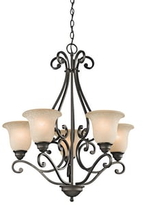 Kichler Lighting Camerena™ 31-1/4 in. 100W 5-Light Medium Chandelier KK43224OZ