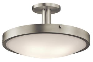 Kichler Lighting Lytham 100W 4-Light Medium Incandescent Semi-Flush Ceiling Light in Brushed Nickel KK42246NI