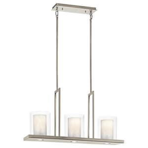 Kichler Lighting Triad 18 in. 100W 3-Light Medium E-26 Ceiling Mount Chandelier KK42547