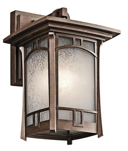 Kichler Lighting Soria™ 100W 1-Light Medium Base Wall Mount Incandescent Lantern in Aged Bronze KK49450AGZ