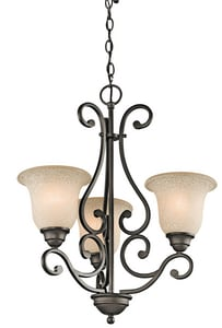 Kichler Lighting Camerena™ 100W 3-Light Chandelier in Olde Bronze KK43223OZ
