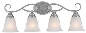 Craftmade International Cordova 100W 4-Light Medium E-26 Base Incandescent Bath Light C25004