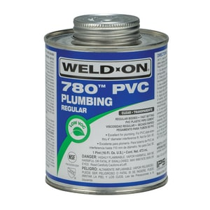Weld-On 1 pt PVC Regular Body Low Volatile Organic Compound Cementin Clear I14002
