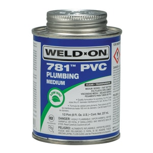 Weld-On® PVC Medium Body Low Volatile Organic Compound Cement in Clear I1400