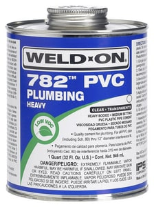 Weld-On 1 qt. PVC Heavy Low Volatile Organic Compound Clear Cement I14016
