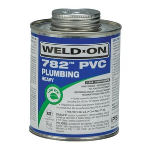 Weld-On 1 pt PVC Heavy Body Low Volatile Organic Compound Cement in Clear IPS14017
