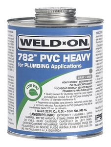 Weld-On 1 qt PVC Heavy Body Low Volatile Organic Compound Cement in Clear I14021