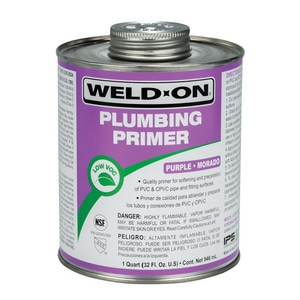 Weld-On 1 qt. PVC CPVC Plumbing Primer Purple IPS14025