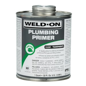 Weld-On PVC CPVC Plumbing Primer Clear IPS14030