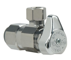 Brass Craft G2™ Series 1/2 in. Push x OD Compression Brass Connect Angle Stop Valve BG2PS19XC