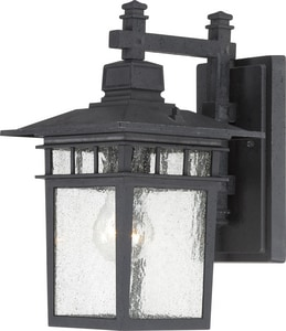 Nuvo Lighting Cove Neck 100W 1-Light Medium E-26 Incandescent Wall Lantern in Textured Black N604953