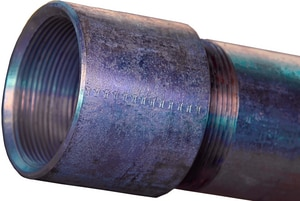 Schedule 40 Black Coated Threaded Welded Carbon Steel Pipe TAABPTCA53B