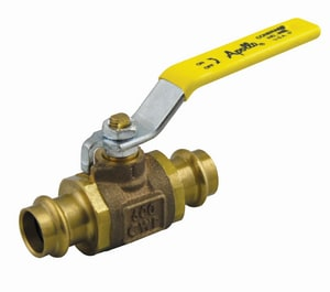 Apollo Conbraco 77W Series 200 psi 2-Piece Press Bronze Full Port Isolation Ball Valve with Lever Handle A77W1004