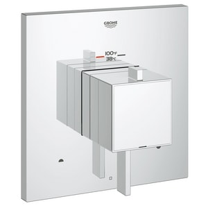 Grohe Eurocube 6.6 gpm 2-Function Thermostatic Trim with Control Module and Double Lever Handle G19927