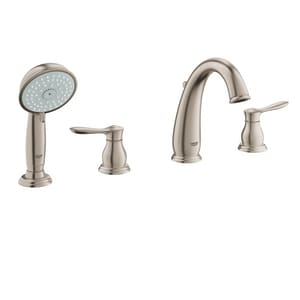 Grohe Parkfield™ 13.2 gpm 4-Hole Roman Tub with Hand Shower and Double Lever Handle G25153