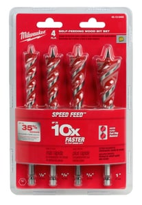 Milwaukee 4-Piece Wood Bit Set M48130400