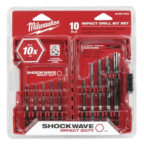 Milwaukee 10-Piece Black Oxide Hex Drill Bit M48894445