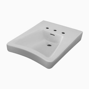 Sloan Valve 3-Hole Wall Mount Lavatory Sink in White S3873804