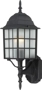 Nuvo Lighting Adams 18-1/4 in. 100W Wall Mount Medium Lantern in Textured Black N604903