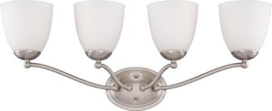 Nuvo Lighting Patton 100W 4-Light Vanity Light in Brushed Nickel N605034