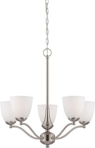 Nuvo Lighting Patton 20 in. 60 W 5-Light Medium Chandelier in Brushed Nickel N605035