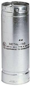 Metal Fab 4 in. Adjustable Length Gas Vent Pipe M4MA