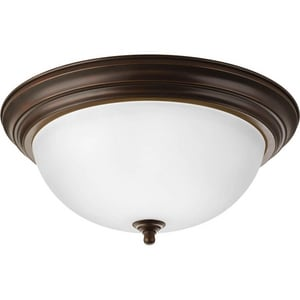 Progress Lighting 3 Light 60W Flush Mount Ceiling Fixture PP392620ET