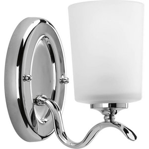 Progress Lighting Inspire 100W 1-Light Bath Fixture in Polished Chrome PP201815