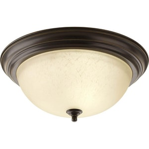 Progress Lighting 60W 3-Light Medium Base Flush Mount Ceiling Light PP392620EUL