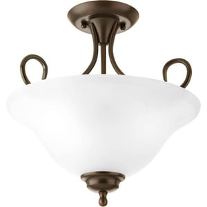 Progress Lighting 60W 2-Light Medium Incandescent Semi-Flush Ceiling Light PP3460ET