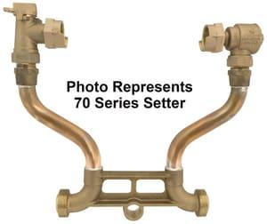 Ford Meter Box D P Swivel Copper Straight Meter Setter FVHH7412W1144NL