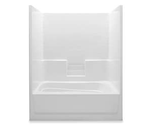 Aquatic Industries Everyday 42 x 60 in. Tub and Shower with Left Hand Drain in White A6042STLWH