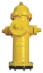 American Flow Control 5-1/4 in. 500 psi Open Bury Hydrant Less Accessories AFCB84BLAOLRED