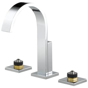 Brizo Siderna® 1.5 gpm 3-Hole Widespread Lavatory Faucet with Double Lever Handle D65380LFLHP