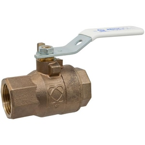 Nibco T-585-66-LF Silicon Bronze Threaded Full Port Ball Valve with Locking Lever Handle NT58566LF