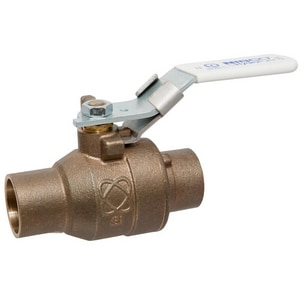 Nibco 2-Piece Bronze and Stainless Steel Solder Full Port Ball Valve with Locking Lever Handle NS58566LFLL