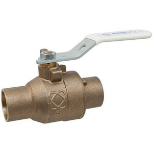 Nibco 2-Piece Bronze Solder Full Port Ball Valve with Locking Lever Handle NS58580LFLL