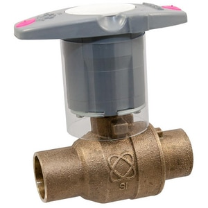 Nibco 2-Piece Bronze Solder Full Port Ball Valve with Locking Lever Handle NS58580LFNS