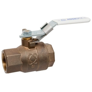 Nibco 2-Piece Bronze NPT Full Port Ball Valve with Locking Lever Handle NT58580LFLL