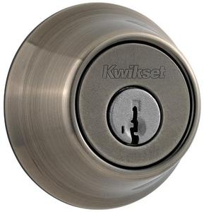 Kwikset Deadbolt in Antique Brass K6605SMTRCALRCS
