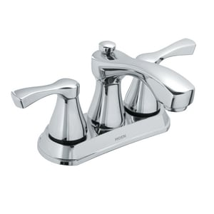 Moen Belmont 1.2 gpm Double Lever Handle Lavatory Faucet in Polished Chrome M84902
