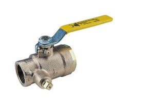 Threaded x FNPT Bronze Full Port Shut-Off Gas Ball Valve with Dual Tapped A50GBA1A