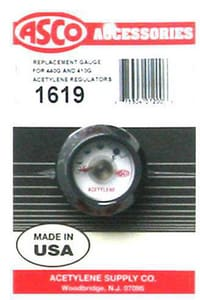 Acetylene Supply Asco Gauge A1619