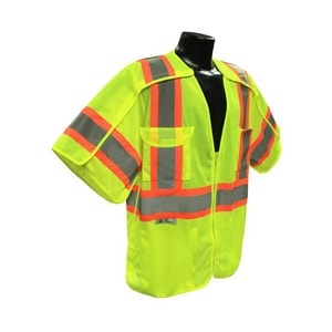 Radians Breakaway Surveyor Vest in Hi-Viz Green RSV243GM