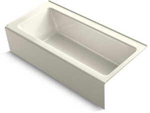 Kohler Bellwether® 66 x 32 in. Cast Iron 3-Wall Alcove Rectangular Bathtub with Right Drain K848