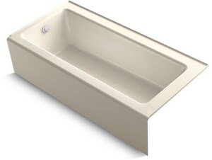 Kohler Bellwether® 66 x 32 in. Cast Iron 3-Wall Alcove Rectangular Bathtub with Left Drain K847
