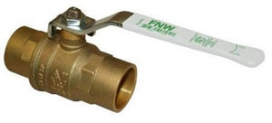 FNW 600# WOG 2-Piece Brass Non-Shock Sweat Full Port Ball Valve FNWX416