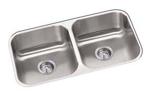 PROFLO® Plomosa 31-3/4 x 18-1/4 in. Double Bowl Undercounter Sink Stainless Steel PFUC206